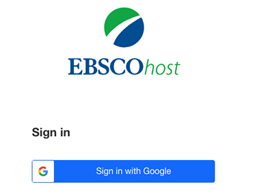 EBSCOhost sign-in pop-up box