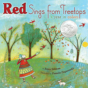 Red sings from the tree tops