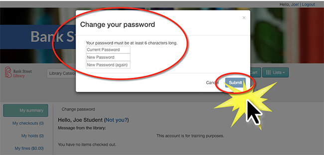 change your password to something private