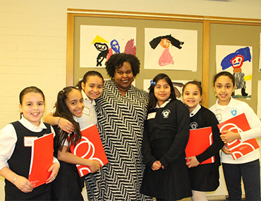 Renée Watson with young reviewers