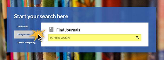 Use Find Journals