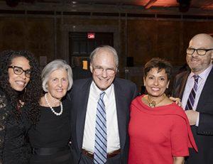 Ani Tibercio, Sarah and Geoffrey Gund, Yolanda Ferrell-Brown, Bank Street President Shael Polakow-Suransky