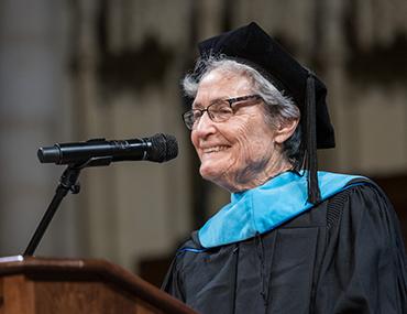 Eleanor Duckworth at podium