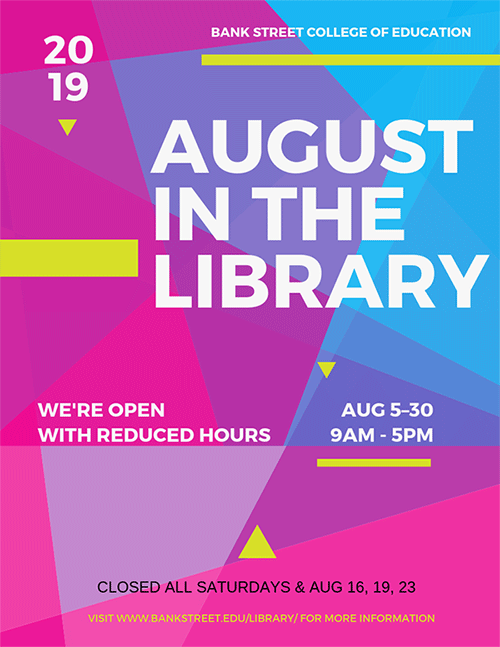 August hours Canva flyer