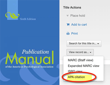 APA Citation Catalog Help blog post