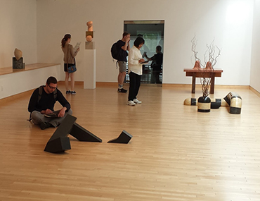 Museum Leadership students at a gallery