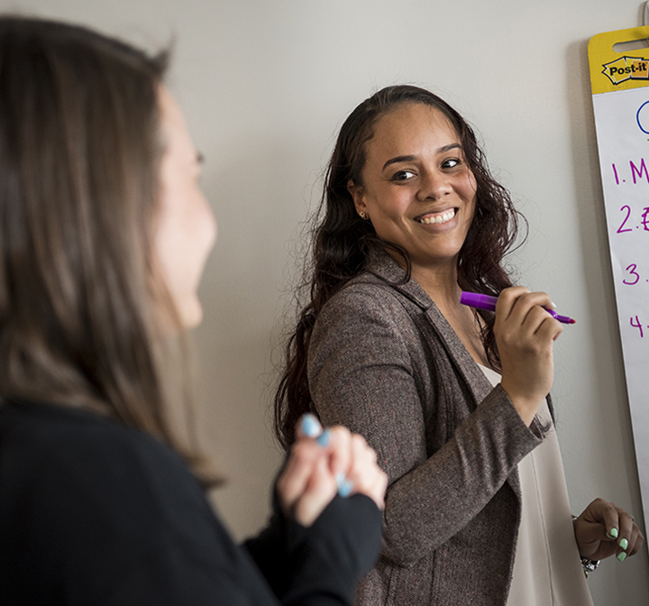 Two educators during professional development session