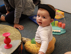 Baby during Family Center playgroup