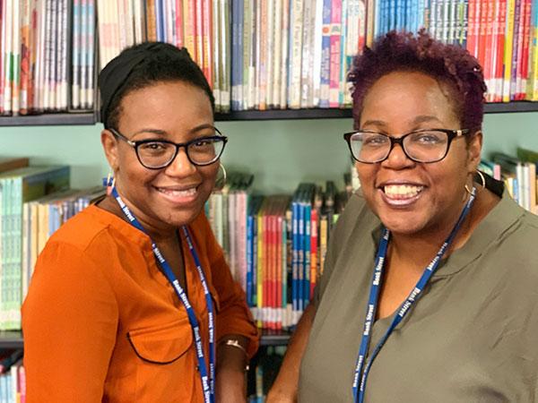 Children's Librarians Kharissa and Audrey