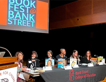 BookFest panel on stage