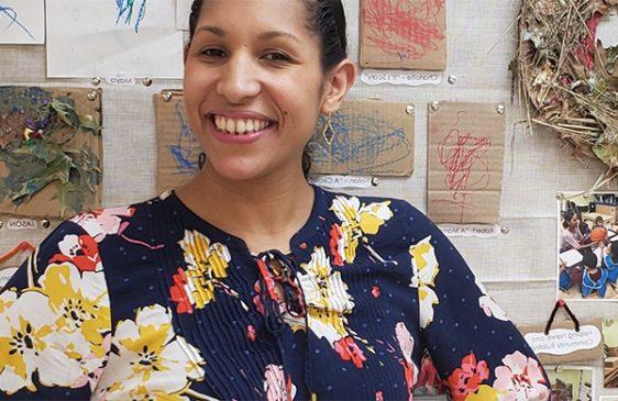 Pilar Anglero-Aviles in Head Start classroom