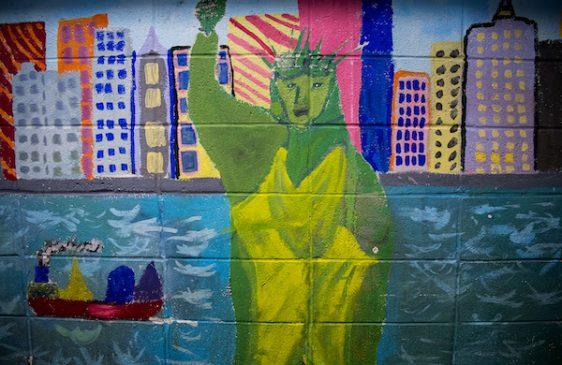 Statue of Liberty mural
