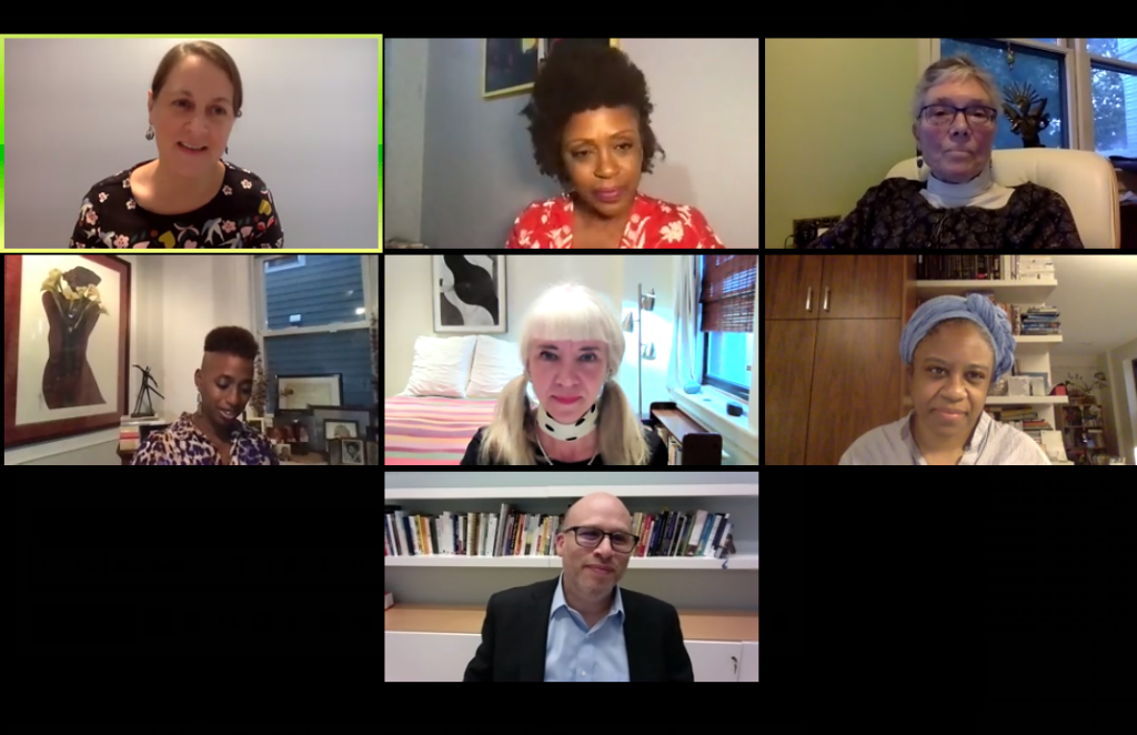 Post-Election Civility panelists on zoom
