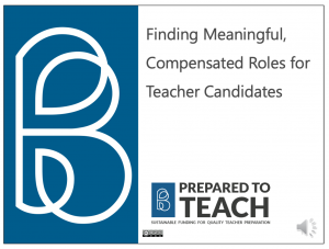 Roles for Candidates in Classrooms