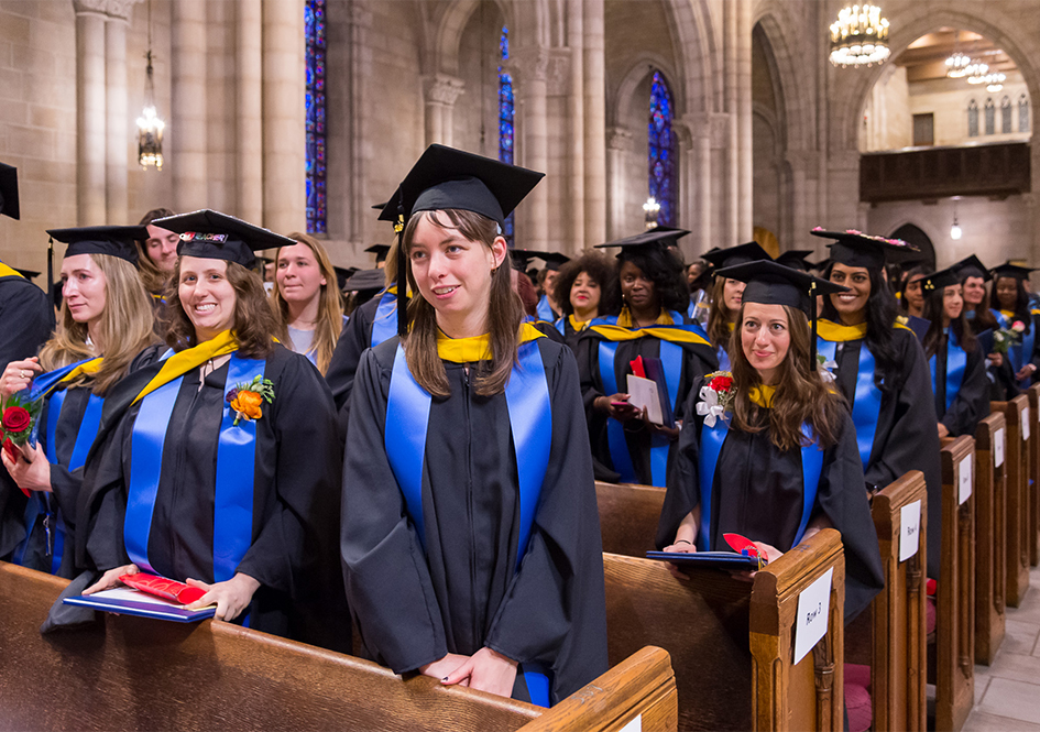 Graduates in the Riverside Church