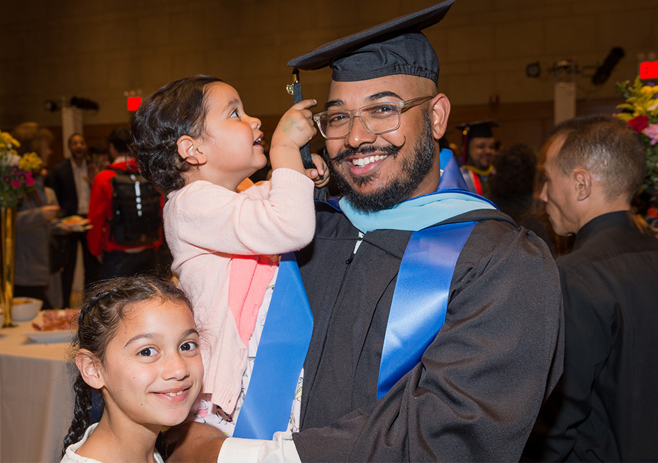 Graduate with two children