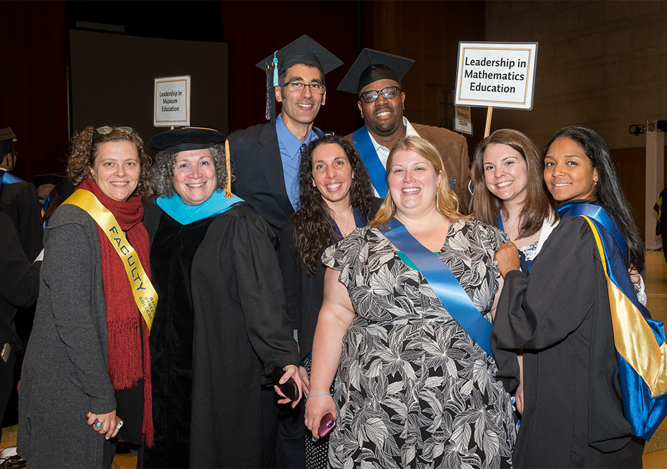 Graduates with GSE faculty