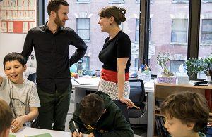 Student teacher meeting on site with fieldwork advisor