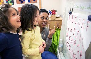 Dual language educators in Bank Street's master's degree programs help emergent language learners