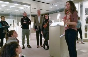 museum studies graduate students visit a museum