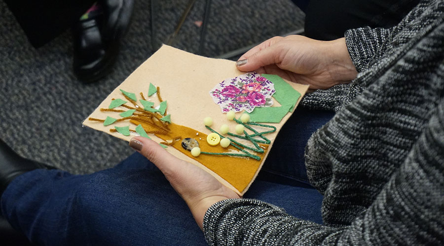 tree art project at safe and sound conference
