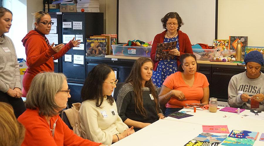 margaret blachley teaching a workshop