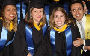 Happy students at their commencement ceremony