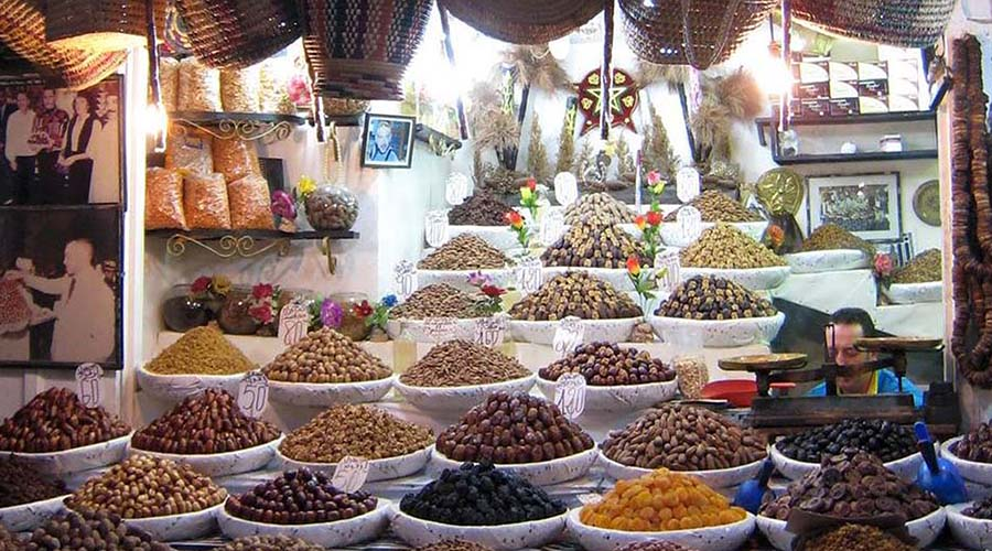 Moroccan marketplace photographed by graduate student