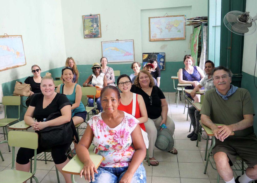 meeting with teachers in Havana