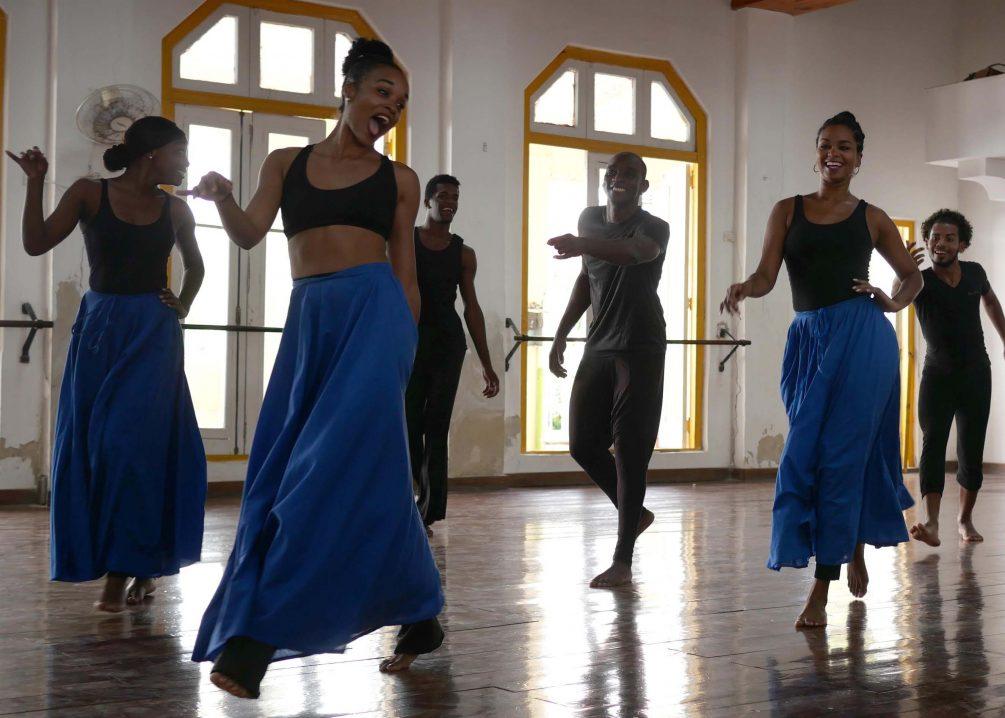 rehearsal of Conjunto Folklórico Nacional Dance Company