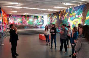 Students learn during trip to a museum