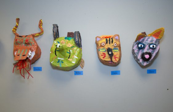 Masks made by students