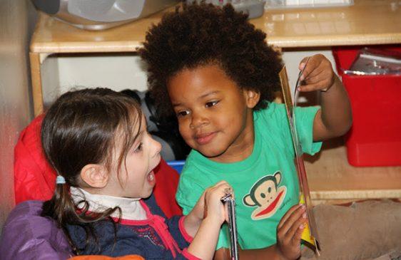Family Center children reading