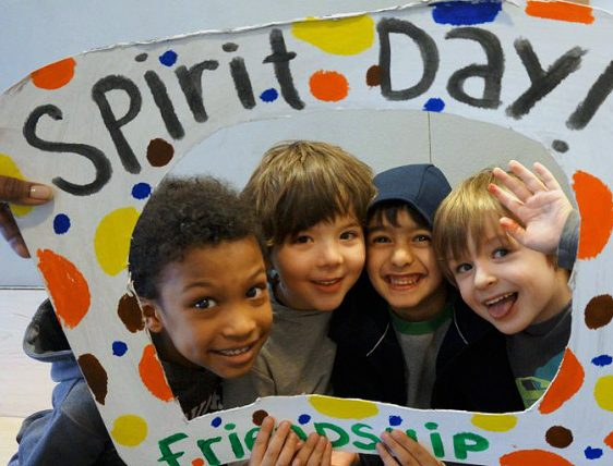Children posing for Spirit Day