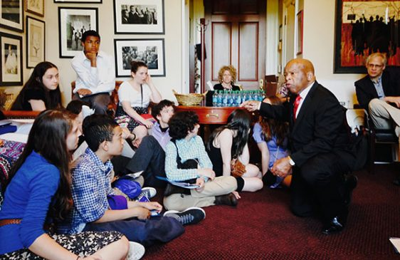 John Lewis speaking to students