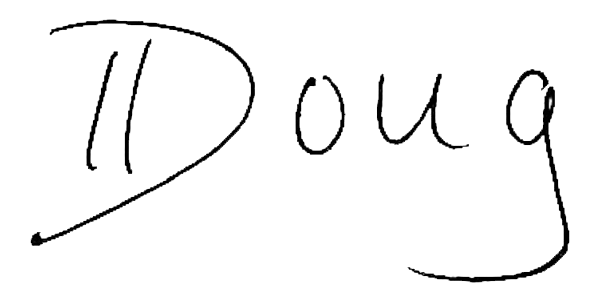 Doug Knecht signature