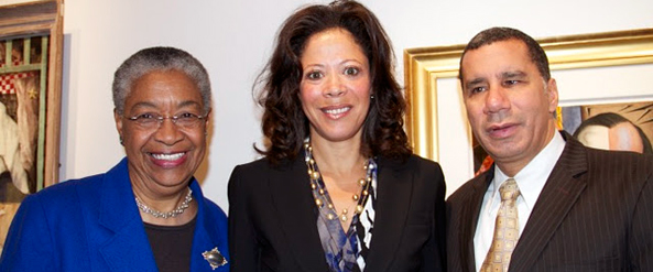 Honorees Fern J. Kahn, Michelle Paige Paterson, the Honorable David Paterson