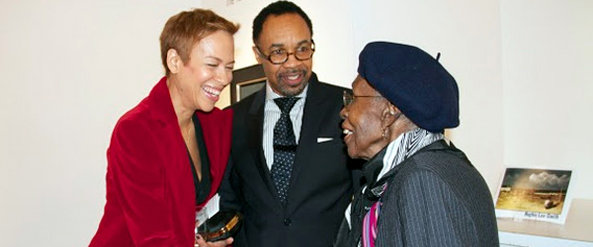Honoree Tonya Lewis Lee, Pemberton Steering Committee member Dwight Johnson, and Pemberton Society Founding President Lucia Henley Jack
