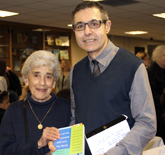 Sal Vascellaro with his mentor at book launch