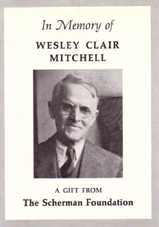 Wesley Clair Mitchell Collection