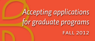 Accepting Applications Grad Studies Fall 2012