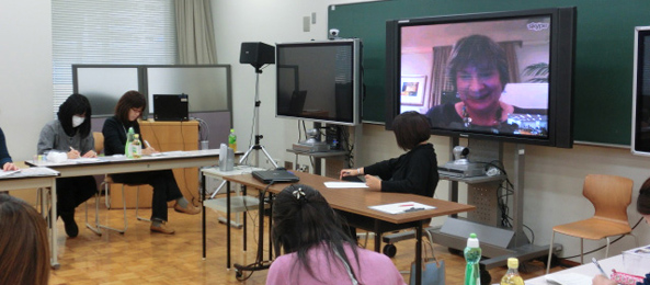 Deb Vilas Teaches via Skype