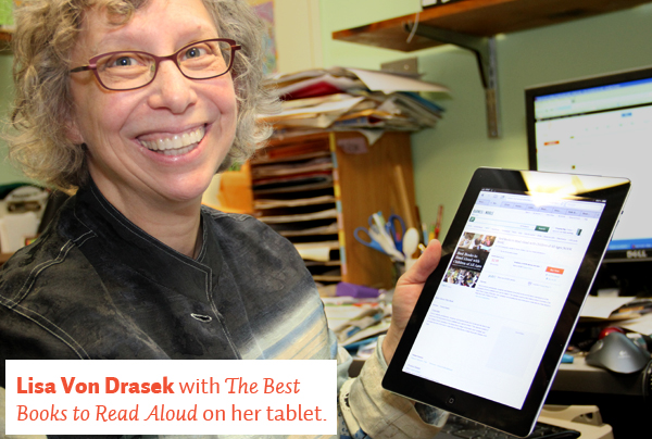 Lisa Von Drasek with her eBook