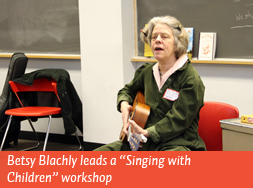 "Betsy Blachly leads a ""Singing with Children"" workshop"