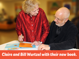 Claire and Bill Wurtzel at the Bank Street book signing