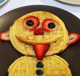 Funny Food Waffle Man