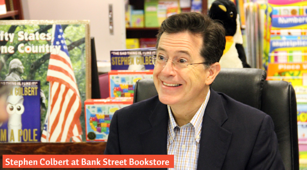 Stephen Colbert at Bank Street Bookstore