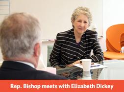 Elizabeth Dickey meets with Congressman Tim Bishop