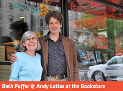 Beth Puffer and Andy Laties at Bank Street Bookstore