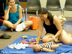 Infancy Institute workshop with baby